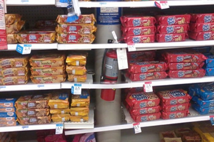 Picture This: Cookies and Fire Extinguisher Share Aisle 1