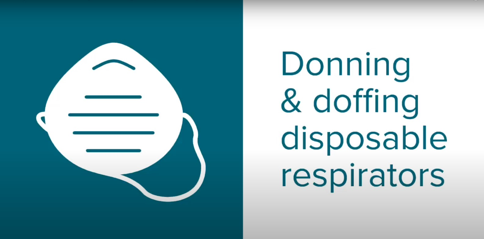 Donning and Doffing a Disposable Respirator Video